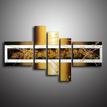 Buy Hand Painted Canvas Oil Paintings 5 Panels Wa;ll Painting Modern Abstract Wallwork Graffiti Wall Art Picture Handmade Home Decor for $34.50 in AliExpress store