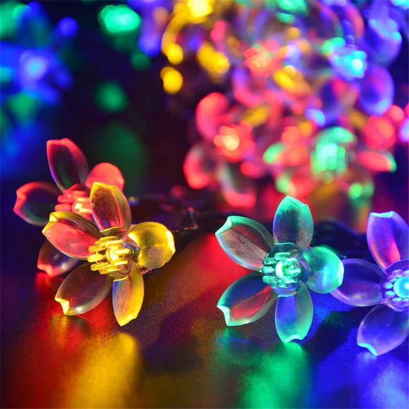 Festival Party String Lights : Solar Powered Ball Led String Lights LED Fairy Light for Weeding Christmas Party Festival ...