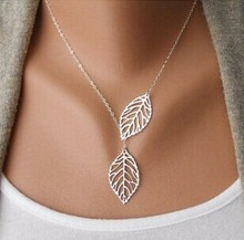Wholesale New Stunning Celebrity Sideways Vertical Tree leaf Charm Infinity Pendant Necklace Chain Wedding Event Jewelry(China (Mainland))