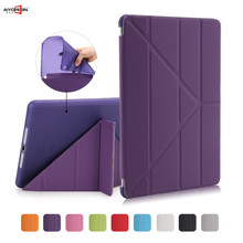 for Ipad air tpu case magnetic smart wake up sleep for apple ipad air 1 pu leather flip stand soft full protect + free stylus(China (Mainland))