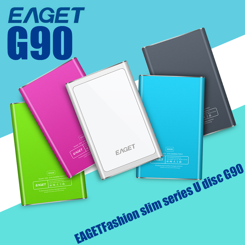 Eaget HDD External Hard Drive G90 Hard Disk usb 3.0 500GB/1TB Extreme-thin Metal Encryption hd externo Free Shipping(China (Mainland))