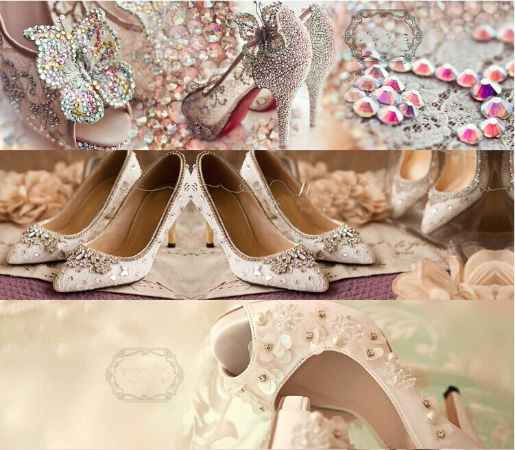 White Lace T-strap Wedding Shoes Genuine Leather Rhinestone Pointed Toe Women Birthday Party Prom Dress Shoes Bridesmaid Shoes