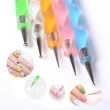 5Pcs 2Way Nail Art Dotting Painting Manicure Tools Painting Pen Nail Art Design Marbleizing Painting Pen Tool(China (Mainland))