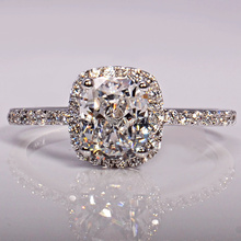 Jz105 second generation princess square artificial diamond ring crystal ring lucky(China (Mainland))