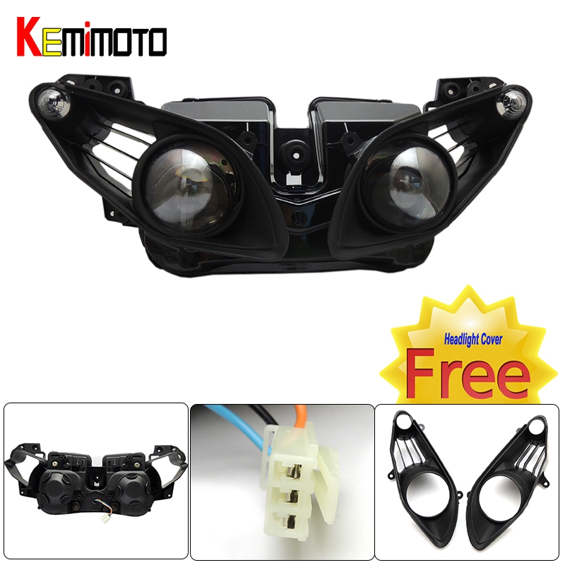 New YZF R1 2009 2010 2011 Motorcycle Front Headlight Head Light Housing with Free Headlight Cover For Yamaha YZF-R1 2009-2011(China (Mainland))