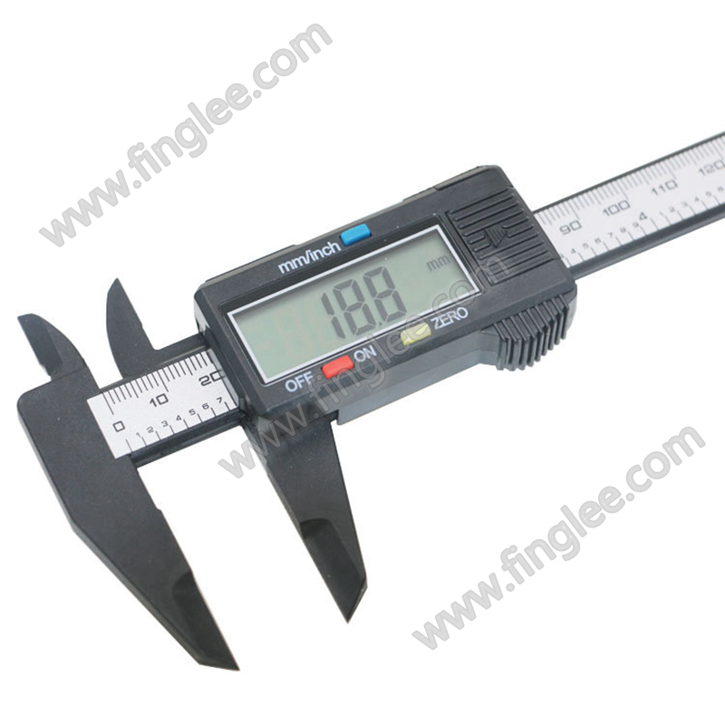6inch 150mm Vernier Digital Electronic Caliper Ruler Measuring Tools Carbon Fiber Composite Vernier Calipers Finglee Tools
