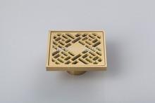 5404 Construction & Real Estate Fashion Ross Antique Brass Grate Floor Register Waste Drain 4″ x 4″ Flower Art Floor Drain brass