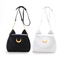 2015 japan stil mädchen kawaii süsse samantha vega sailor moon luna leder katze form schulter messenger crossbody umhängetasche fan(China (Mainland))