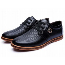 2016 spring new fashion men's genuine leather lace up casual shoes man cow muscle leisure shoe male big size 38-48 single shoes(China (Mainland))