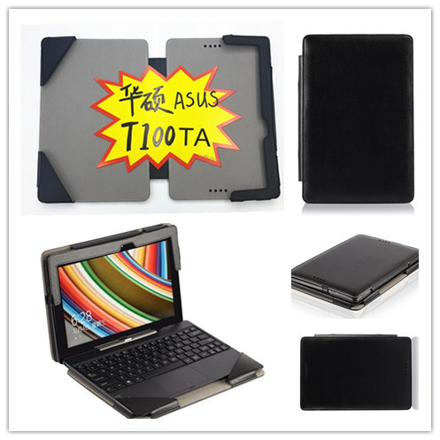 For Asus Transformer Book T100TA T100 Keyboard Leather Cover Case Wholesale ,Gift screen protectors<br>