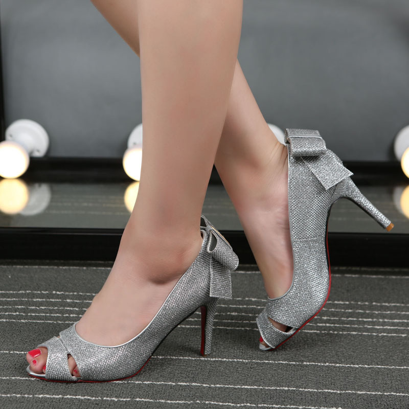 2015 new female high-heeled shoes is a Korean star bow fish mouth shoes Taobao explosion shoes shoes<br><br>Aliexpress