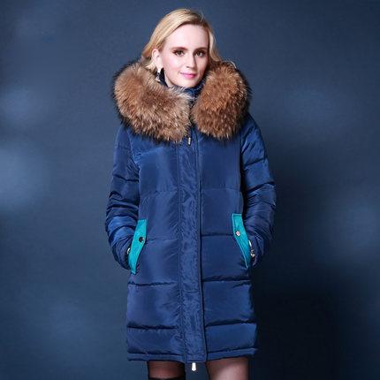 5XL Plus Size Women Winter Coats 2015 Warm White Duck Down Jacket Women With Real Raccoon Fur Hooded Parkas For Women Winter