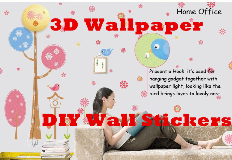 Novelty Items DIY 3D Wallpaper Lamp Vinyl Wall Paper Home Decorations Night Light Gifts Children's Day Gift - Concession Stand store