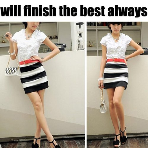 Women Short Skirt  Sexy Stretch Candy Colors Mini Skirt With Side Zip Free Size W1203