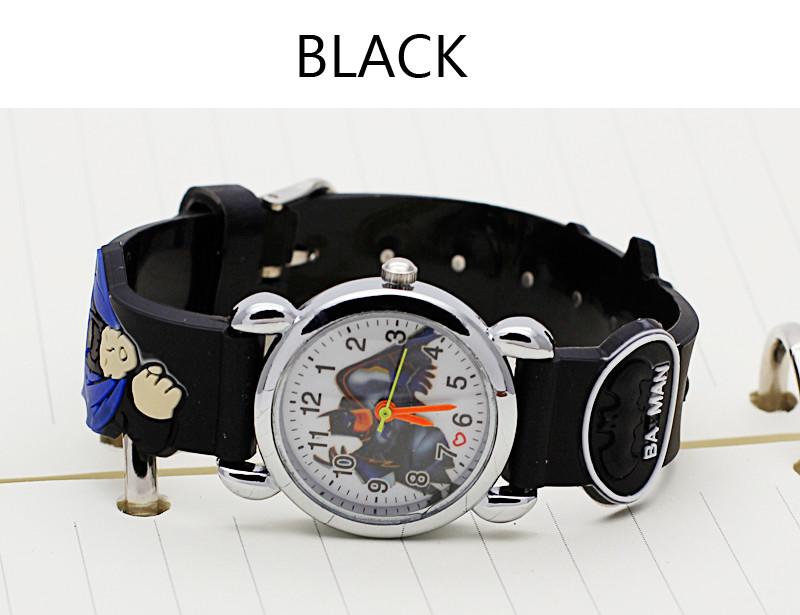 2016 Hot sale fashion Batman Children's cartoon watches purses Students Kids purse silicone quartz watch cute boy wristwatches(China (Mainland))