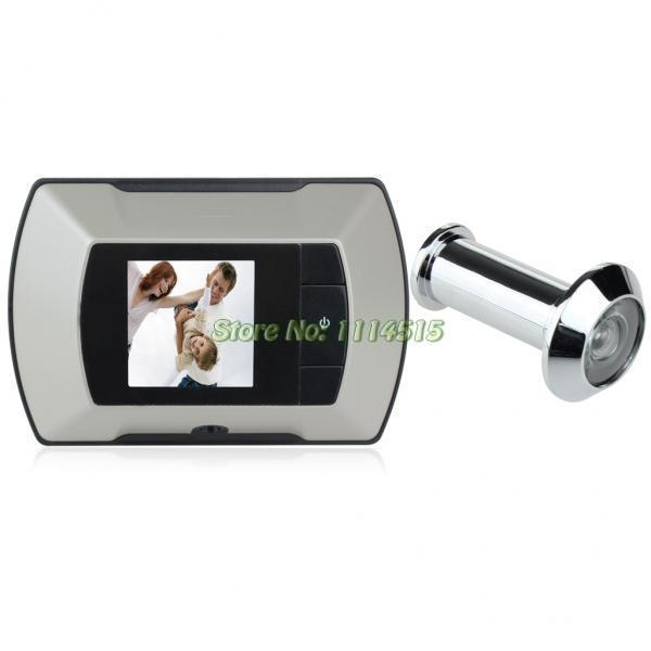 2 2 lcd digital door peephole viewer camera olho magico for Door viewer camera