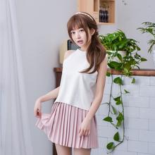 Mori Girl 2016 Summer New Women Halter Vest Off Shoulder Sexy Girl Vest Sleeveless Short Tops Girl Cute Summer Tops Lolita Prom(China (Mainland))