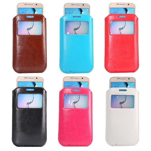 2015 New Hot Sales For Multi Phone Model Cell View Window Pouch Mobile Phone PU Leather Bag Case For Google LG Nexus 5 D820 D821(China (Mainland))