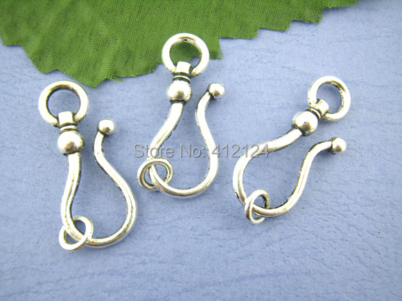 250 Sets Free Shipping Hot New DIY Silver Tone Large Hook Toggle Clasps Jewelry Making Findings Component 15x38mm<br><br>Aliexpress