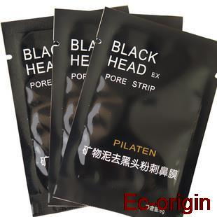 black mask pilaten blackhead remover face mask lot set Tearing style Deep Cleansing purifying peel off Black head pore strips 6p(China (Mainland))