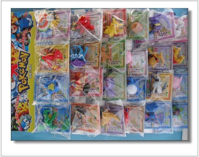 Very Nice Cardboard Packed 24 Pieces 3~6CM Medium Pokemon Toys Eevee Evolution Wizards Action Figures WA0102(China (Mainland))