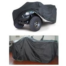 Portable Quad Bike ATV Black Cover Parts Vehicle Tractor Motorcycle Car Covers Waterproof Resistant Dustproof Anti-UV Size L/XXL