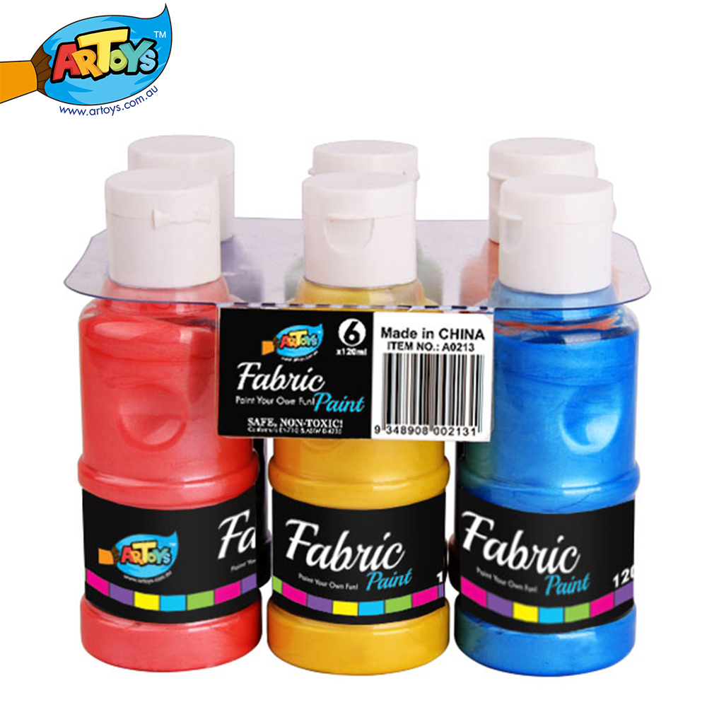 Artoys 6 fabric paint 120ml high quality 100 safe non toxic children 39 s diy educational drawing - High quality exterior paint set ...