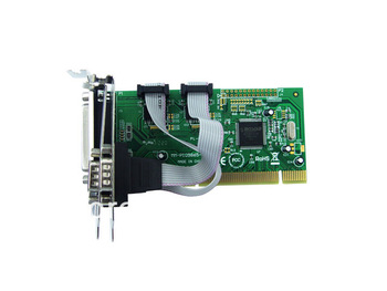 IOCREST Combo 2 DB-9 Serial (RS-232) + 1 DB-25 Parallel Printer (LPT1) Ports PCI Controller Card,Support Low Profile Bracket