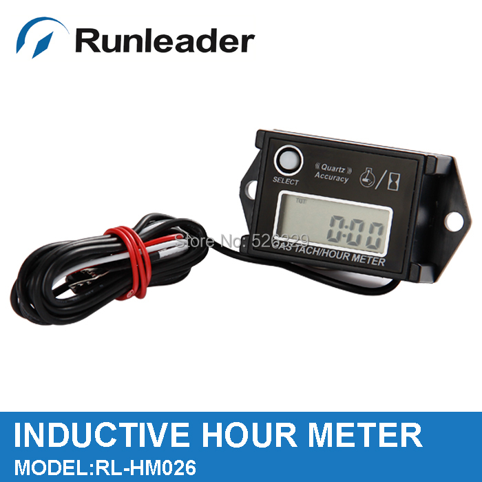 Gasoline Engine Digital RPM Resettable Hour Meter for Yacht Marine Racing Boat Motorboat chainsaw jet ski ATV snowmobile(China (Mainland))