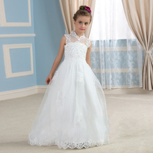 Ivory Lace Dresses For Girls Flower Girls Dresses For Party And Wedding Kids Dresses Party Vestido De Daminha Plus Size 2016(China (Mainland))