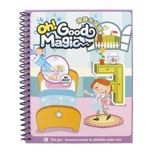Libro de dibujo de agua mágica para colorear con pluma bebé juguete educativo animales pintura escritura Doodle libro de tela niños tablero de dibujo(China)