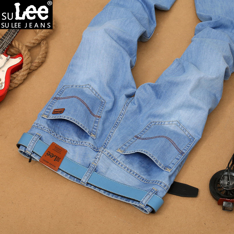 2016 Men's jeans Fashion Brand Jeans Large sales Spring summer Jeans Fashion Slim Jeans Thin tight new blue dress men's 8830(China (Mainland))