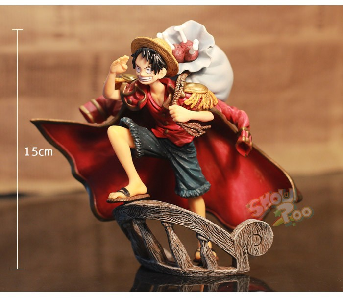 "2015 new one piece monkey D luffy action figure toys/figuarts 15 cm(6.3"") PVC dolls decoration no original box free shipping(China (Mainland))"