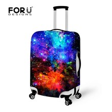 Galaxy Star Univers Space Travel Luggage Protective Covers for 18-30 Inch Trolley Suitcase Elastic Spandex Protective Dust Cover(China (Mainland))
