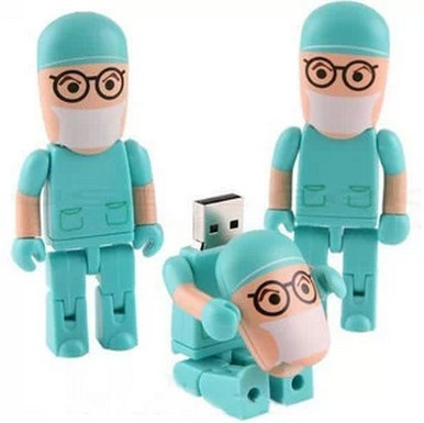 High Quality Doctor Plastic USB Flash Drive 8GB 16GB 32GB USB 2.0 Flash Disk/Drive/Pen/Thumb/Car Free Shipping(China (Mainland))