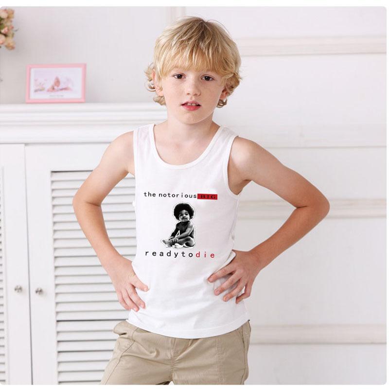 Notorious B.I.G Ready to Die Full Album Kids T Shirts Sleeveless Shirt Unisex Cartoon Baby Child t-shirts Girls Boys Tee Shirts(China (Mainland))
