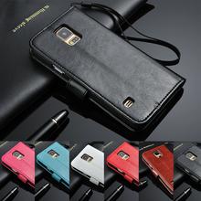 Для Samung Galaxy S5 чехол кошелек флип кожаный чехол для Samsung Galaxy S5 с визитница + ремешок подставка чехол для S5 S6