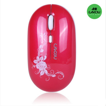 Free Shipping Aula  L-510 2.4GHZ Wireless Optical Mouse  White Lovely Girl Mouse for Laptop PC