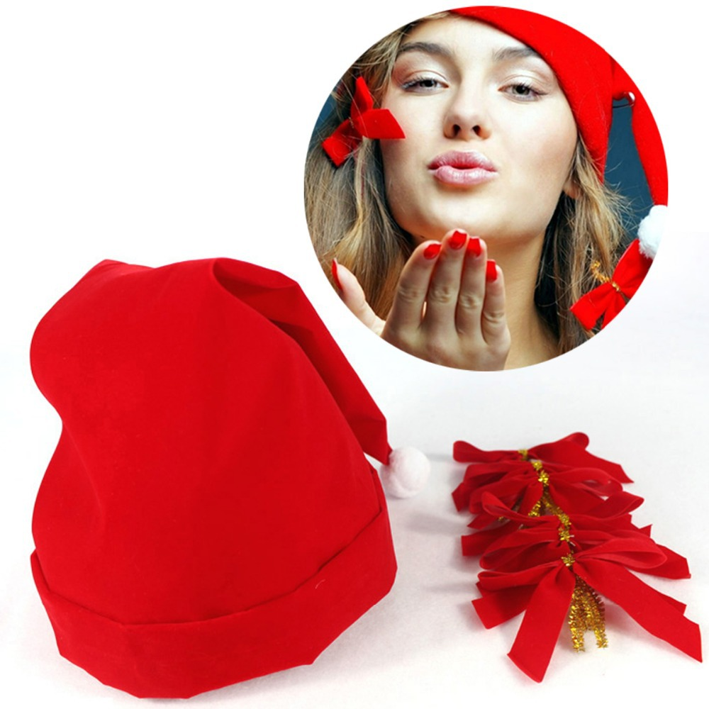 2015 Chirstmas Gift Chirstmas Hat with Six Little Butterfly Flower(China (Mainland))