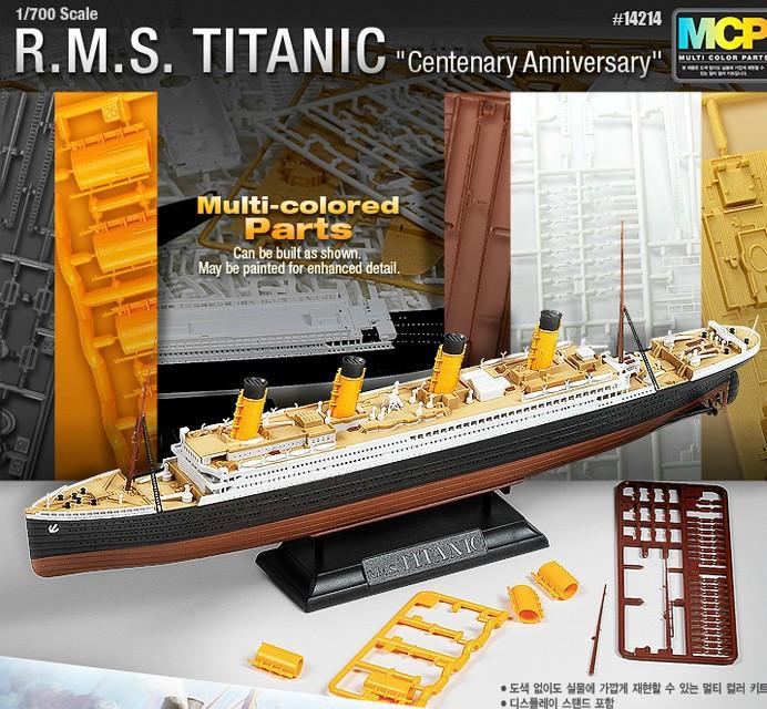 ACADEMY 1/700 14214 Process Plates Titanic ship model luxury cruise ship Assembly ship Model kits Modle building scale(China (Mainland))