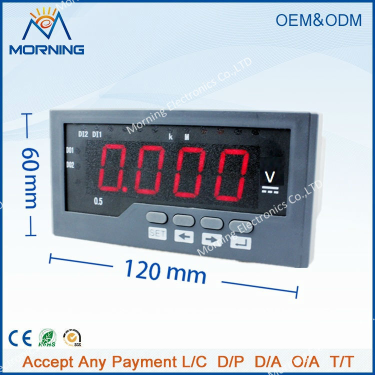 DV41 frame size 120*60mm LED Digital display single phase high precision voltmeter for electric car(China (Mainland))