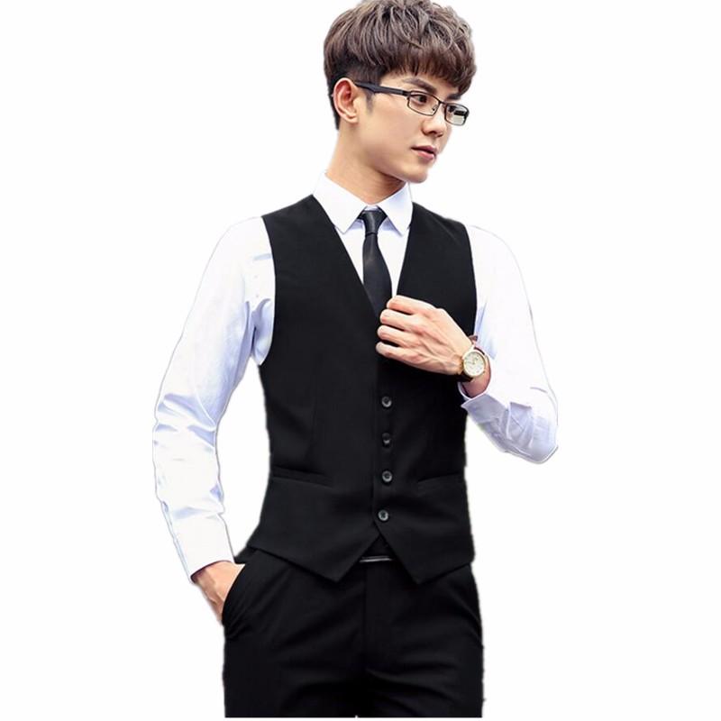 18.1 Men\`s suits waistcoat handsome hot sale the groom\`s best man wedding dress waistcoat custom single-breasted suit black vest