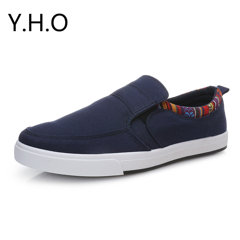 Hot Sale Fashion Men Canvas shoes Slip on Casual Men Shoes Spring Summer Flats Shoes Breathable Blue Red Black SIze 39-44<br><br>Aliexpress