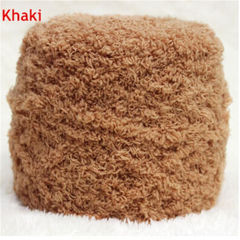 Menor! 1 Ball / lot 100 g navio livre de alta qualidade cáqui Coral do velo do bebê cachecol fio quente / camisola Diy tricô S284(China (Mainland))