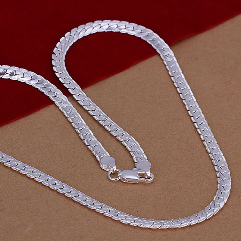 Necklace Silver Plated Necklace silver fashion jewelry necklace 18 inches chain jewelry wholesale ppol LN130