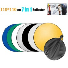 "43"" 110cm 7 in 1 Portable Collapsible Light Round Photography Reflector Studio Multi Disc Reflector(China (Mainland))"