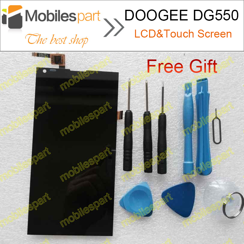 DOOGEE DG550 Screen LCD Display 100% Original Touch Digitizer Assembly Replacement For Doogee Dagger DG550 Cell Phone(China (Mainland))
