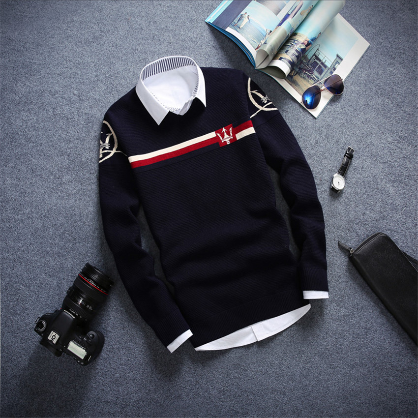 2016 Men Sweater High Quality Brand New Casual Slim Fit Male Clothing O Neck Solid Long Sleeve Knitted Pullovers Sweater(China (Mainland))