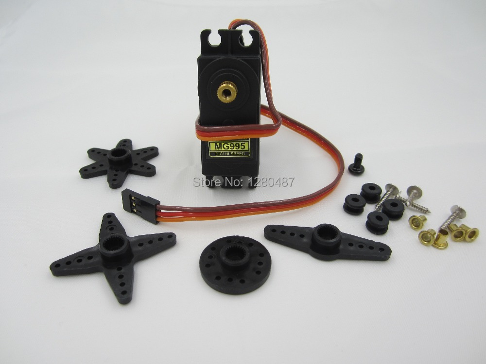Free shipping 1pcs/lot MG995 55g servos Digital Metal Gear rc car robot Servo MG945 MG946R MG996R(China (Mainland))