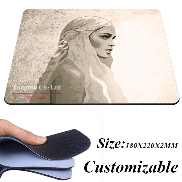 1pc hot sale high quality Khalis Targaryen from creative durable gaming Silicone slip mouse pad mouse pad optical mouse pad(China (Mainland))